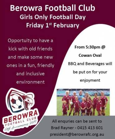 Girls only Football Day