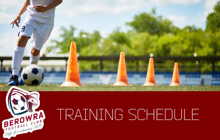 2019 Training Schedules