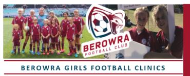 Free Girls Football Clinics