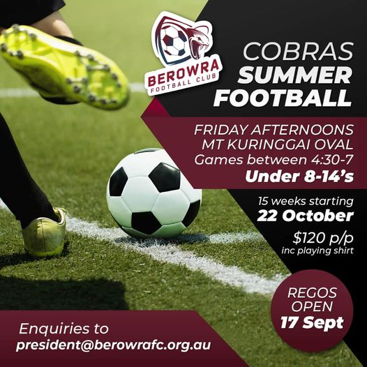 Cobras Summer Football