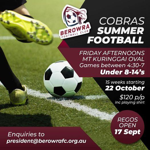 Cobras Summer Football