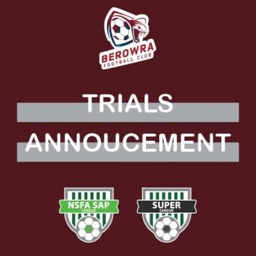 Trials Announcement
